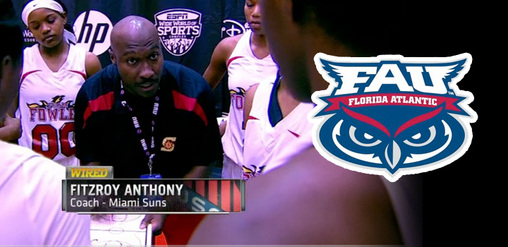 Fitzroy Anthony Accepts Position at FAU