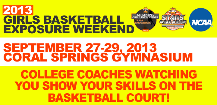 2013 Girls Basketball Exposure Weekend Info