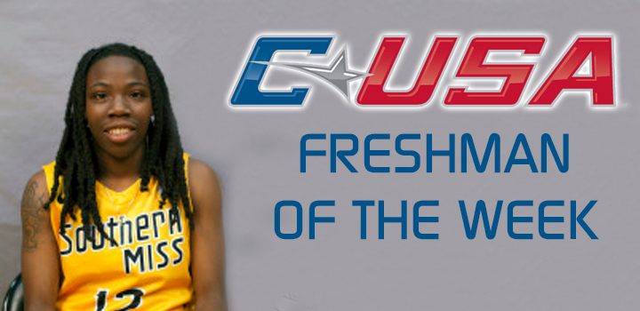 Brittanny Dinkins Named Conference USA Freshman of the Week