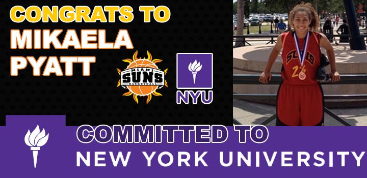 Mikaela Pyatt Commits to NYU