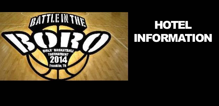 URGENT: Hotel Information for Battle at the Boro in Tennessee
