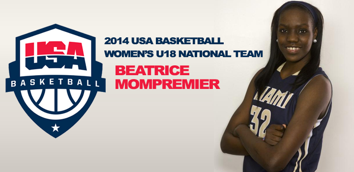Beatrice Mompremier Selected To Join 18U USA Basketball National Team