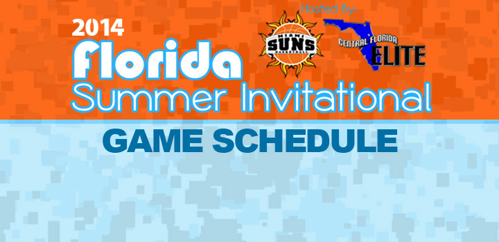 2014 Florida Summer Invitational Game Schedule