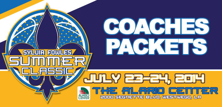 College Coaches Packets – Pickup and Purchase – Sylvia Fowles Summer Classic