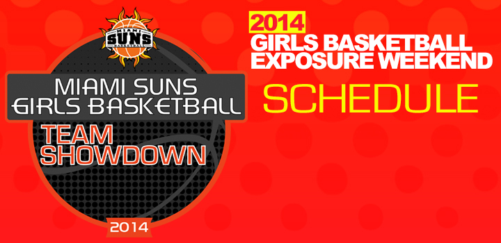 2014 Miami Suns Team Showdown Game Schedule