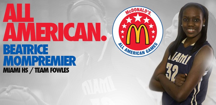 Beatrice Mompremier Named McDonald's HS All American