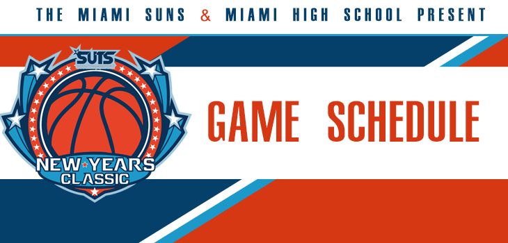 SUTS Report New Years Classic Game Schedule