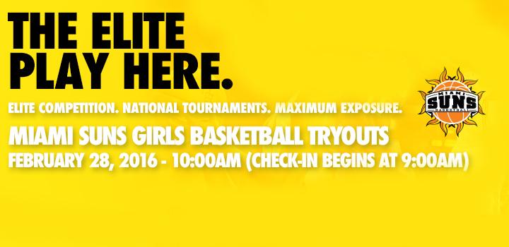 2016 Miami Suns Girls Basketball Tryouts