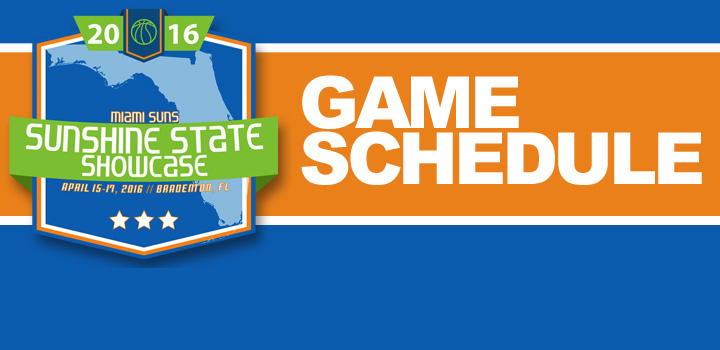 2016 Sunshine State Showcase Schedule