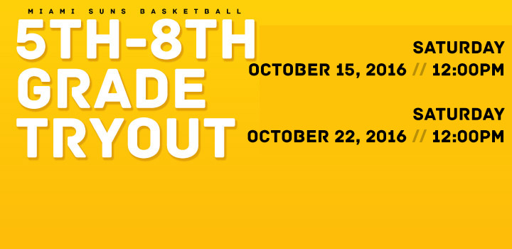5th-8th Grade Tryouts 2018